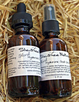 Floral Hyaluronic Acid Serum-Natural Skincare, Moisturizing Rose & Neroli Hydrosols