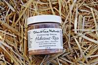 Hibiscus-Rose Cleansing Grains - Colloidal Oats - Pink Brazilian Clay -Calendula, Organic Facial Scrub, Exfoliating Scrub, Free Shipping