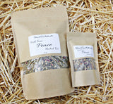 Hold Your Peace Herbal Tea - .75 oz or 4 oz, *Pregnancy-Safe, Soothes Nervousness-Anxiety-Stress, Calms Tension, Mood-Lifter, Free Shipping