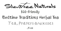 Kid-Friendly Bedtime Traditions Herbal Tea - Tea, Prayers and Kisses- .5 oz or 3 oz, Relaxing, Soothes & Calms Nerves, Free Shipping