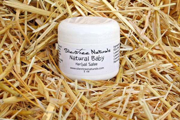 Natural Baby Herbal Salve - 2 oz-Calendula-Lavender-Chamomile-Marshmallow Root-Infused Salve For Baby/Adults