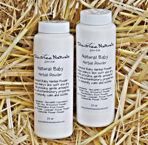 Natural Baby Herbal Powder - All Natural Baby Powder, Talc-Free, Natural Scented, Lavender-Chamomile, Non-GMO