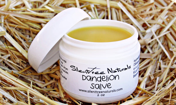 Dandelion Salve - Natural Skincare, Stiff Joints & Muscles, Aches, Pains, All-Natural, Helps Rough Dry Skin