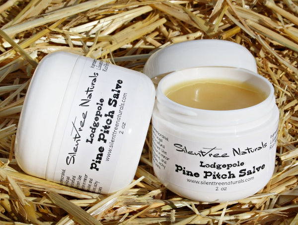 Lodgepole Pine Pitch Salve - Natural Antiseptic, Anti-fungal, Antibacterial, Drawing Salve, Chronic Pain Aid