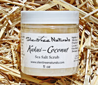 Kukui-Coconut Sea Salt Scrub - Natural Skincare, Kukui Nut Oil, Coconut Oil Scrub, Sea Salt, All-Natural