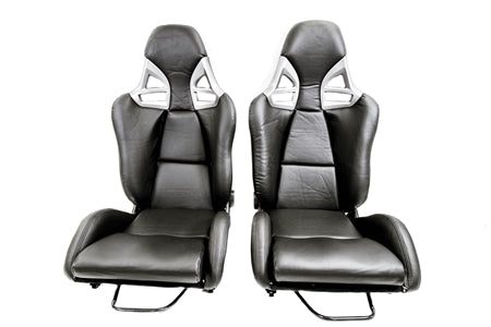 F1SPEC 997 GT2 RECLINE SEAT (PAIR) - Carbon Fiber with PU Leather