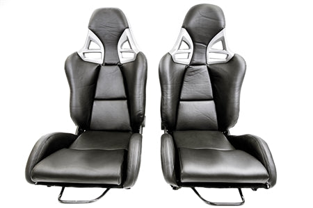 F1SPEC 997 GT2 RECLINE SEAT (PAIR) - FRP with PU Leather