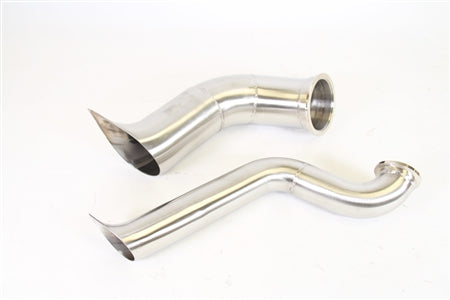 PLM Power Driven B-Series Hood Exit Up-Pipe & Dump Tube for Top Mount Turbo Manifold