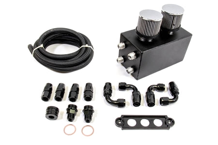 PLM Power Driven Universal Oil Catch Can Kit ( Breather Tank )