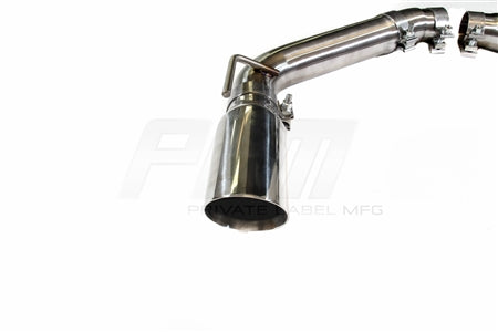 PLM Axle Back Exhaust Muffler Delete - Chevy Camaro V8 2010 - 2015 Stainless Steel