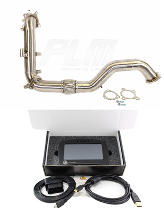 "PLM 3"" DOWNPIPE + FRONT PIPE & KTuner V2 Touch for Civic 1.5T Turbo & SI ( FC ) 2016+"