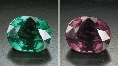 Alexandrite Comparison - Natural vs. Chatham Lab-Grown
