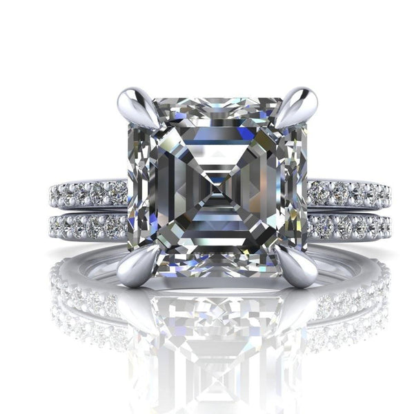 Asscher Rings - F&B Exclusive-Fire & Brilliance ®