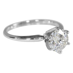 14k or 18k White Gold Solitaire Collection - Fire & Brilliance