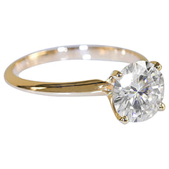 14k or 18k Yellow Gold Solitaire Collection - Fire & Brilliance