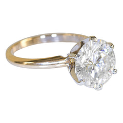 14k or 18k White and Yellow Gold Two-Tone Solitaire Collection - Fire & Brilliance