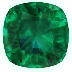 FAB Emerald Cushion Cut - Fire & Brilliance