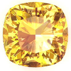 FAB Yellow Sapphire Cushion Cut - Fire & Brilliance