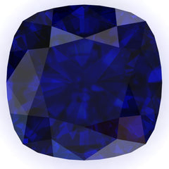 FAB Blue Sapphire Cushion Cut - Fire & Brilliance