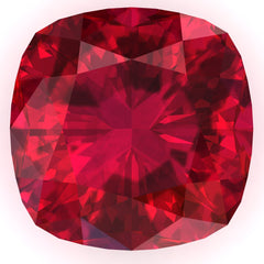 FAB Ruby Cushion Cut - Fire & Brilliance