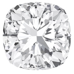 FAB White Sapphire Cushion Cut - Fire & Brilliance