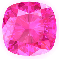 Chatham Pink Sapphire Cushion Cut - Fire & Brilliance