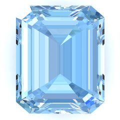 FAB Aqua Blue Spinel Sapphire Emerald Cut - Fire & Brilliance