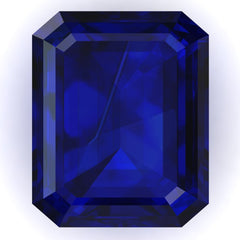 FAB Blue Sapphire Emerald Cut - Fire & Brilliance
