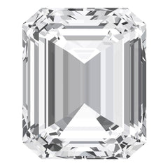 FAB White Sapphire Emerald Cut - Fire & Brilliance