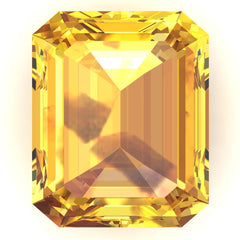 FAB Yellow Sapphire Emerald Cut - Fire & Brilliance