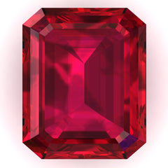 FAB Ruby Emerald Cut - Fire & Brilliance