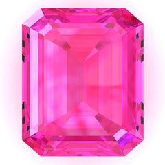 FAB Pink Sapphire Emerald Cut - Fire & Brilliance