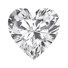 FAB White Sapphire Heart Cut - Fire & Brilliance