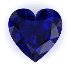 FAB Blue Sapphire Heart Cut - Fire & Brilliance