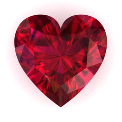 FAB Ruby Heart Cut - Fire & Brilliance