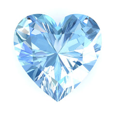 FAB Aqua Blue Spinel Sapphire Heart Cut - Fire & Brilliance