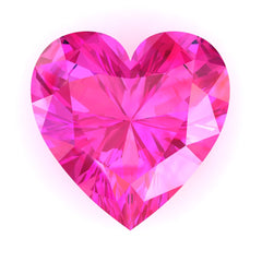 Chatham Pink Sapphire Heart Cut - Fire & Brilliance