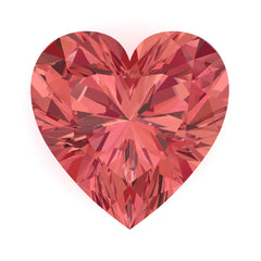 Chatham Padparadscha Sapphire Heart Cut - Fire & Brilliance