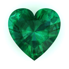 FAB Emerald Heart Cut - Fire & Brilliance