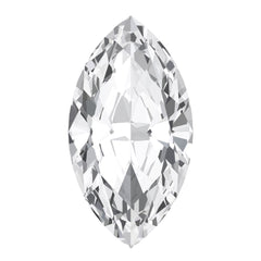 Chatham White Sapphire Marquise Cut - Fire & Brilliance