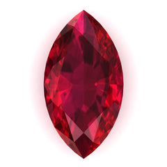 Chatham Ruby Marquise Cut - Fire & Brilliance