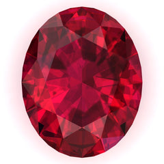 FAB Ruby Oval Cut - Fire & Brilliance