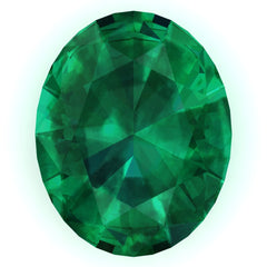 Chatham Emerald Oval Cut - Fire & Brilliance