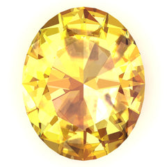 FAB Yellow Sapphire Oval Cut - Fire & Brilliance