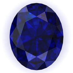 FAB Blue Sapphire Oval Cut - Fire & Brilliance