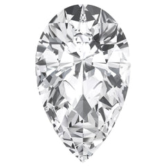 FAB White Sapphire Pear Cut - Fire & Brilliance