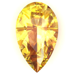 FAB Yellow Sapphire Pear Cut - Fire & Brilliance