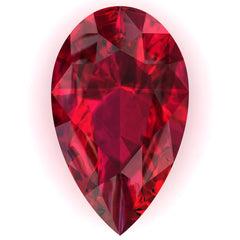 FAB Ruby Pear Cut - Fire & Brilliance