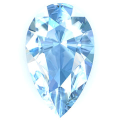 FAB Aqua Blue Spinel Sapphire Pear Cut - Fire & Brilliance