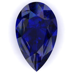 FAB Blue Sapphire Pear Cut - Fire & Brilliance